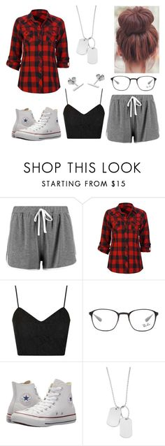 """""""#57"""" by juliekallehauge on Polyvore featuring Boohoo, Full Tilt, Topshop, Ray-Ban, Converse, Variations and Myia Bonner"""