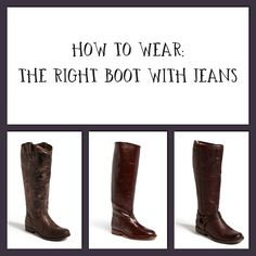 How To Wear: Boots With Jeans www.HowToWearEverything.com