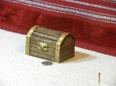 Personalized WoodenTreasure Chest Ring by TurtleCrossingArts