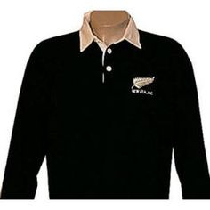 New Zealand Long Sleeve Rugby Shirt - - Rugby Shirts - Rugby Gear Rugby Gear, Long Sleeve Rugby Shirts, Polar Fleece, New Zealand, Children, Mens Tops, T Shirt, Jackets, Clothes