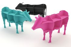 Cow-shaped bookshelves from Vaco on Behance (these are epically awesome as far as I'm concerned, and I REALLY want to know when they're available!)