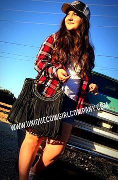 Iron Horse Fringe Purse @ www.UniqueCowgirlCompany.com