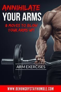 Obliterate your biceps and triceps by giving this intense arm workout a try. These arm exercises are sure to give you a crazy pump and help shock your muscles into growing! arm workout, fitness, bodybuilding, strength training, workouts for men Arm Workout No Equipment, Arm Workout Men, Biceps Workout, Workout Fitness, Fitness Exercises, Workout Plans, Workout Motivation, Lifting Motivation, Workout Women
