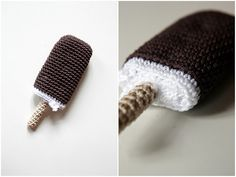 Crocheted Ice Cream Popsicle - free crochet pattern and tutorial
