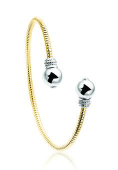 Gold-plated silver bracelet; $182; Zinzi, Montreal; 800-361-0401; zinzi.com