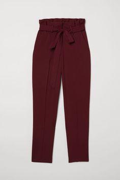 Paper bag trousers - Burgundy - Ladies  65d84a510