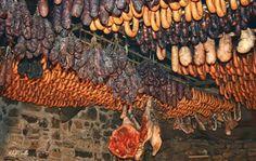 Fumeiro transmontano Food Porn, Butcher Shop, Smokehouse, Outdoor Cooking, Farm Life, Carne, Sausage, Fish, Meat