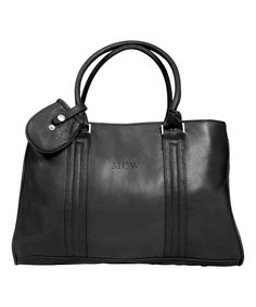 Love this Black Dove Creek 17'' Leather Monogram Laptop Briefcase by Canyon Outback Leather on #zulily! #zulilyfinds