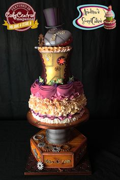 Cake Central Magazine Volume 4 Issue 8 | Steampunk Wedding Cake