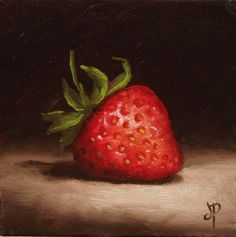 Little Strawberry #5 original fine art by Jane Palmer