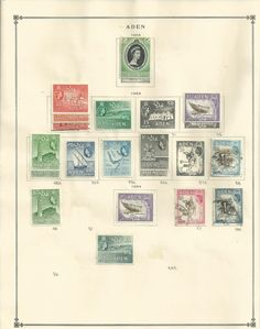 1953 High Resilience Vintage Stamp Collection Aden 1939