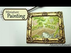 Miniature Painting and Frame in polymer clay - Dollhouse size - YouTube