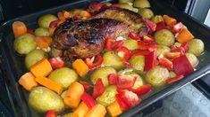 Pečená krůtí prsa na medu | Recept | Uvařsisám.cz Pot Roast, Ethnic Recipes, Food, Red Peppers, Carne Asada, Roast Beef, Essen, Meals, Yemek