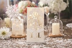 Gold Fantastic Castle Laser Cut Wedding Bridal by MadeinLoveSource