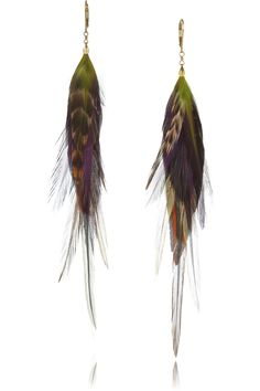 Jeeyun Ha Designs | Ophelia 14-karat gold feather earrings | NET-A-PORTER.COM