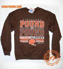Pound for Pound Orange and Brown Crew Sweatshirt