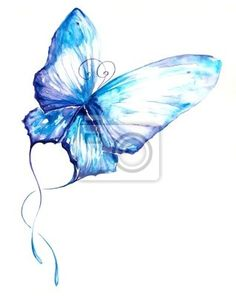 d11ced68073f5 Mural de Parede Butterfly watercolor painted. • Pixers® - Vivemos para mudar