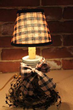 Electric Pint Candelabra Mason Jar Light by PotpourriandLighting