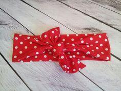 Red & white polka dot retro Headband to match by RedDollyGirls, $7.00
