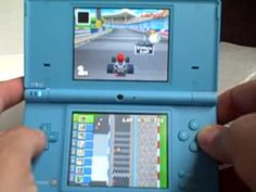 Just purchased the new nintendo DSi from gamestop, in blue. playing some mario kart on it...