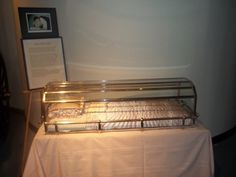 The Sleeping Beauty Casket.   This is at the Texas Museum of Funeral History which is next to Commonwealth Institute of Funeral Service.