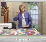 video - From Scraps to a quilt Eleanor Burns Quilt in a day