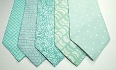 Mint Cotton Mens Neckties by tuxandtulle on Etsy
