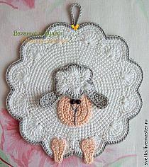 Ideas Crochet Doilies Easter Pot Holders For 2019 Crochet Sheep, Crochet Needles, Crochet Patterns Amigurumi, Crochet Blanket Patterns, Crochet Animals, Crochet Baby, Crochet Kitchen, Crochet Home, Crochet Potholders