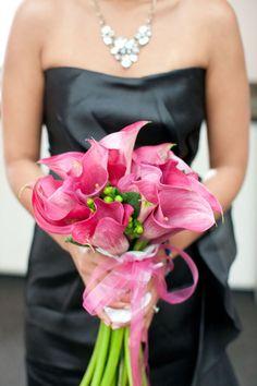 pink calla lillies!