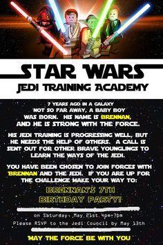 LOVE This Star Wars Invitation