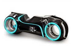 Tron lightcycle working replica! I'd love to see what the newly designed helmet looks like...