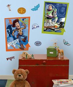 Take a look at this Toy Story Peel & Stick Giant Wall Decals by Toy Story on #zulily today!