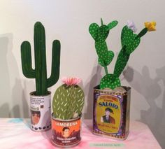 Welcome to The Cactus Garden Art For Kids, Crafts For Kids, Arts And Crafts, Diy And Crafts, Origami, Cactus Craft, Cardboard Sculpture, Paper Plants, Fabric Stamping