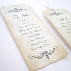 vintage style wedding table plan by edgeinspired | notonthehighstreet.com