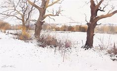 Richard Thorn ) (Ричард Торн): all_drawings — LiveJournal Watercolor Artists, Watercolor Landscape, Watercolor Illustration, Watercolour Painting, Painting & Drawing, Landscape Paintings, Watercolours, Painting Snow, Winter Painting