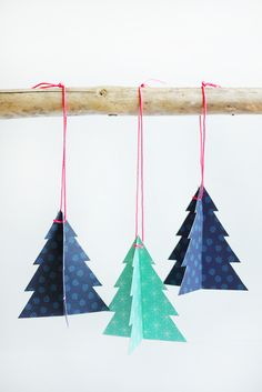 Printable Holiday Tree Ornaments