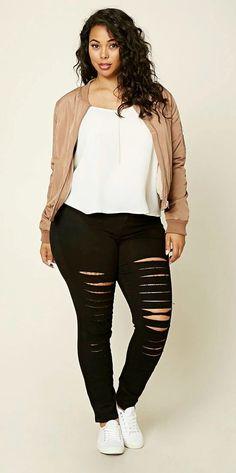 awesome Plus Size Distressed Jeans... by http://www.globalfashionista.xyz/plus-size-fashion/plus-size-distressed-jeans/
