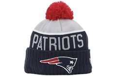 5eb3c03b41c New England Patriots New Era 2015 NFL Official Sideline Sport Knit Hat -  Size One Size in Clothing.