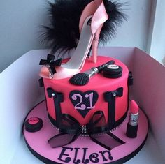 21. birthday cake for a girl