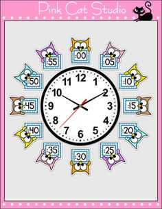 Owl Theme Telling Time Clock Labels - Back to School Classroom Decor Math Clock, Classroom Clock, Kindergarten Classroom, School Classroom, Classroom Decor, Circus Theme Classroom, Clock Labels, Fun Educational Games, First Grade Sight Words