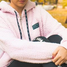 Stay dry and warm with anorak jackets from PINK! From anoraks to windbreakers, shop the selection of cute jackets today at PINK. Pink Sweater Outfit, Vs Pink Outfit, Pink Outfits, Victorias Secret Costume, Love Pink Clothes, Bollywood Outfits, Victoria Secret, Young Fashion