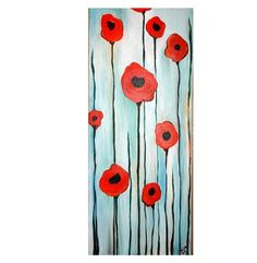 Abstract Poppies Commission by Kristen Dougherty. $100.00, via Etsy.