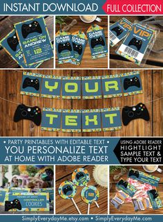 Video Game Party Invitation Template Free Google Search Party - Video game birthday party invitation template free
