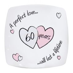 Diamond Anniversary Plate  from Personalised Gifts Shop - ONLY £15.95