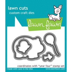 """LF660 Lawn Fawn Lawn Cuts Custom Craft Dies """"Year Four"""""""