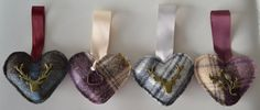 Made to Order Scottish Themed Wedding Favours by ThePurpleThistles, Thistle Wedding, Tartan Wedding, Our Wedding, Dream Wedding, 60 Wedding Anniversary, Scottish Thistle, American Wedding, Handfasting, Hanging Hearts