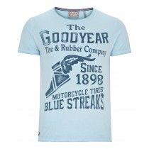 Goodyear Men Comfort Fit T-Shirt Marlin (Soft Sky) | 400519-3013