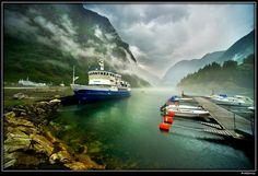 Sognefjorden. Gudvangen. Norway.