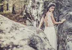 Vestido de novia de Laure de Sagazan #boda #vestidos