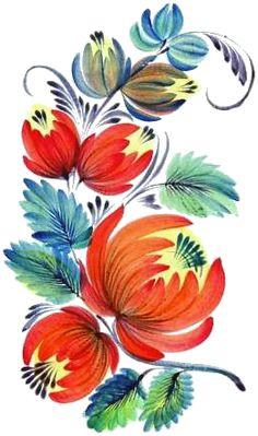 One Stroke Painting, Tole Painting, Fabric Painting, Painting & Drawing, Watercolor Paintings, Russian Folk Art, Ukrainian Art, Folk Art Flowers, Laser Art